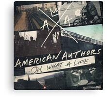 American Authors 2 Canvas Print