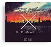 American Authors 3 Canvas Print