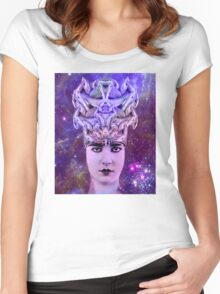 Snake Woman Women's Fitted Scoop T-Shirt