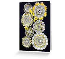 Black & Yellow Greeting Card