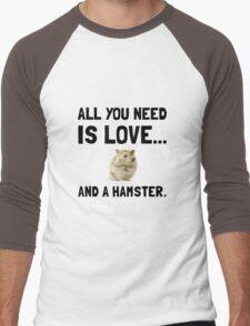 Love And A Hamster Men's Baseball ¾ T-Shirt