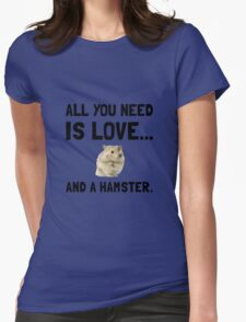 Love And A Hamster Womens Fitted T-Shirt