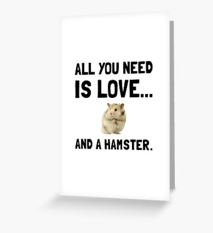 Love And A Hamster Greeting Card
