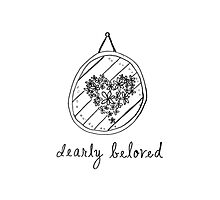 Dearly Beloved - Wedding/Engagement/Bridal Shower Announcement Photographic Print