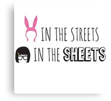 Tina in the Sheets Canvas Print