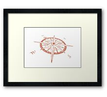 Compass rose - Windrose Framed Print
