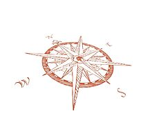 Compass rose - Windrose Photographic Print