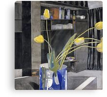 Vintage yellow art - Charles Rennie Mackintosh  - Yellow Tulips Canvas Print