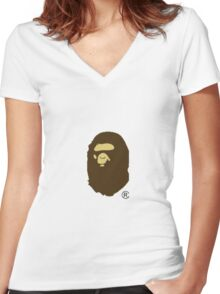 Bape Women's Fitted V-Neck T-Shirt