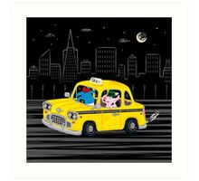 Taxi Ride Art Print