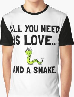 Love And A Snake Graphic T-Shirt