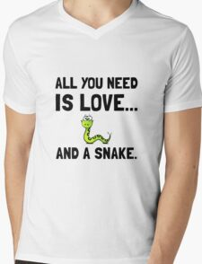 Love And A Snake Mens V-Neck T-Shirt
