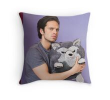 Sebastian Stan and Friend <3 Throw Pillow