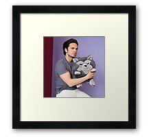 Sebastian Stan and Friend <3 Framed Print