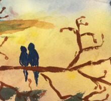 Birds on a branch Sticker