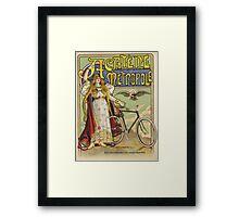 Vintage famous art - Charles Tichon - After Lucien Baylac - Acatene Metropole Poster  Framed Print