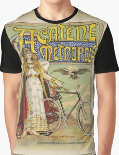 Vintage famous art - Charles Tichon - After Lucien Baylac - Acatene Metropole Poster  Graphic T-Shirt