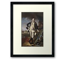 Vintage famous art - Charles Willson Peale - George Washington Framed Print