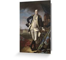 Vintage famous art - Charles Willson Peale - George Washington Greeting Card