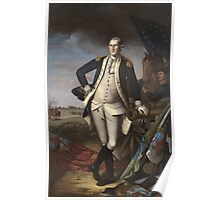Vintage famous art - Charles Willson Peale - George Washington Poster