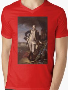Vintage famous art - Charles Willson Peale - George Washington Mens V-Neck T-Shirt