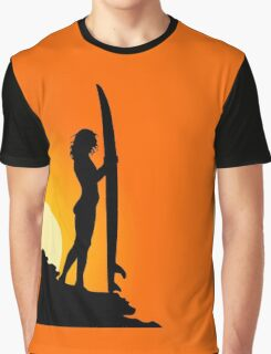 Surfer at sunset Graphic T-Shirt