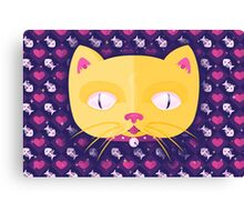 Silly Kitty Canvas Print
