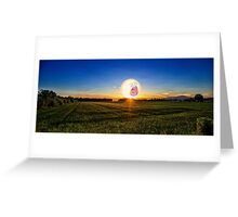 SCREAMING SUNRISE GRASS FIELD RICK AND MORTY Greeting Card