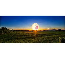 SCREAMING SUNRISE GRASS FIELD RICK AND MORTY Photographic Print
