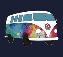 VW Rainbow Hippie Bus! Kids Tee