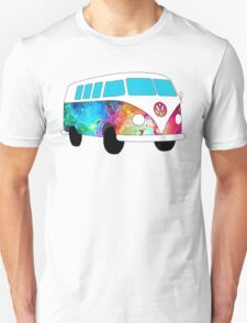 VW Rainbow Hippie Bus! T-Shirt