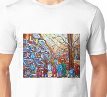 CANADIAN ART MONTREAL PAINTING WINTER PLAYGOUND IN THE CITY Unisex T-Shirt