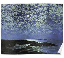 Vintage famous art - Childe Hassam - Moonlight, Isle Of Shoals Poster