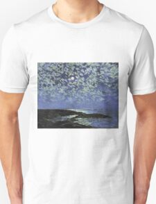 Vintage famous art - Childe Hassam - Moonlight, Isle Of Shoals Unisex T-Shirt