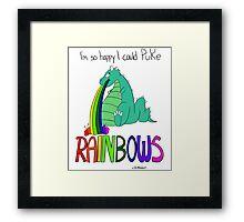 Rainbow Sarcasm Framed Print