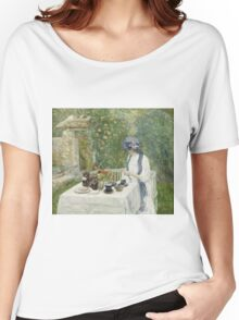 Vintage famous art - Childe Hassam - French Tea Garden Women's Relaxed Fit T-Shirt