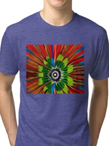Colourful feathers Tri-blend T-Shirt