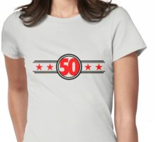 Fifty Stars Womens Fitted T-Shirt