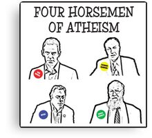 Four horsemen of atheism Canvas Print