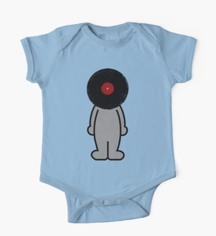 Vinylized!!! Vinyl Records DJ Music Man One Piece - Short Sleeve