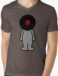 Vinylized!!! Vinyl Records DJ Retro Music Man T-Shirt Stickers Prints Mens V-Neck T-Shirt