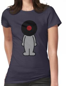Vinylized!!! Vinyl Records DJ Music Man Womens Fitted T-Shirt
