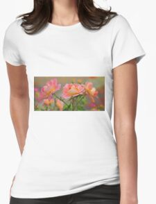 Texas Rose 3 Womens Fitted T-Shirt