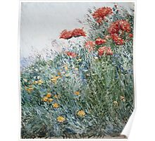 Vintage famous art - Childe Hassam - Poppies, Appledore Poster