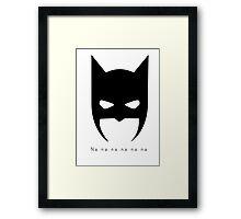 Superhero Mask and Motif! Framed Print