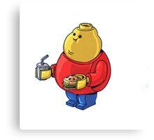 FAT Lego Boy  Canvas Print