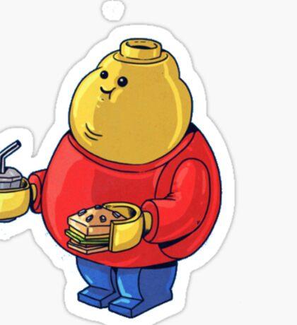 FAT Lego Boy  Sticker