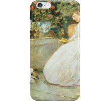 Vintage famous art - Childe Hassam - Reading iPhone Case/Skin