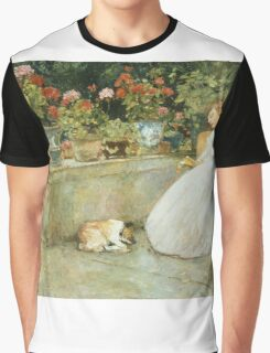 Vintage famous art - Childe Hassam - Reading Graphic T-Shirt