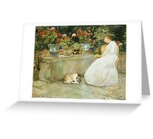 Vintage famous art - Childe Hassam - Reading Greeting Card